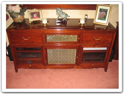Rosewood Furniture Range  - ffexample - Surround sound entertainment centre with dvd drawers ith  glass fronted