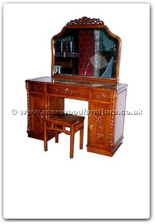 Rosewood Furniture Range  - ffhfb024 - Rosewood Dressing Table with mirror and stool