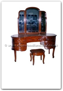 Rosewood Furniture Range  - ffhfb026 - Rosewood Dressing Table with mirror and stool