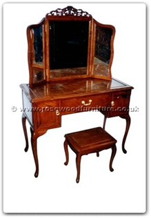Rosewood Furniture Range  - ffhfb027 - Rosewood Dressing Table with mirror and stool