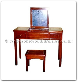Rosewood Furniture Range  - ffhfb030 - Rosewood Dressing Table with Plain design2 pcs.ith set