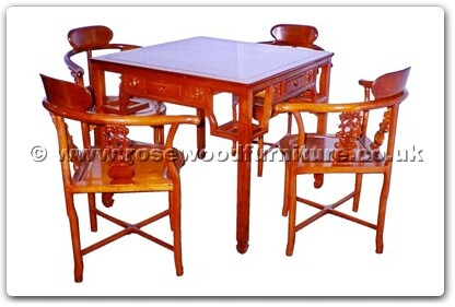Rosewood Furniture Range  - ffhfd070c - Rosewood Mah-Jong Chairs - Set of 4 to go with Table