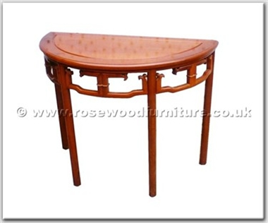 Rosewood Furniture Range  - ffhfl117 - Rosewood Semi-Circular Table with Ming Style