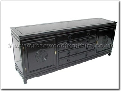 Rosewood Furniture Range  - ffl78buf - Buffet with 4 drawers  and  2 doors longlife design