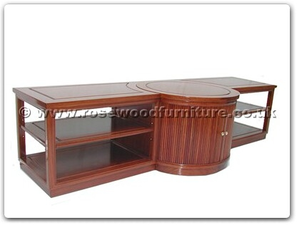Rosewood Furniture Range  - ffls84tv - T.v. cabinet with 28 inch recessed lazy susan