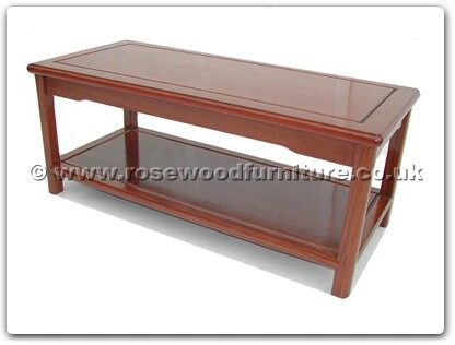 Rosewood Furniture Range  - ffm40scof - Ming style coffee table with  shelf
