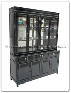 Rosewood Furniture Range  - ffm60hutch - Ming Style Buffet With Top (With Spot Light  and  Mirror Back)