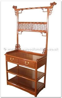 Rosewood Furniture Range  - ffmsds - Ming style dressing stand - 2 drawers
