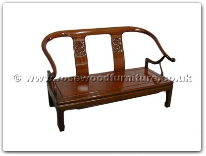 Rosewood Furniture Range  - ffob2sofa - Ox bow 2 seater sofa dragon design
