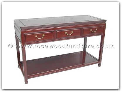 Rosewood Furniture Range  - ffp50ser - Serving table with 3 drawers plain design with shelf
