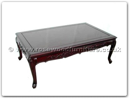 Rosewood Furniture Range  - ffqccoff - Queen ann legs coffee table with carved