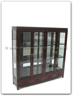 Rosewood Furniture Range  - ffrbglass - Glass cabinet f and b design with mirror back