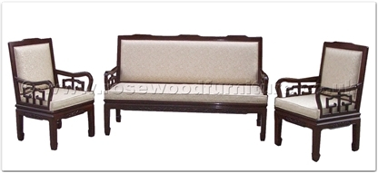 Rosewood Furniture Range  - ffrhblsf1 - High back single seater sofa - flower carved and fixed cushion