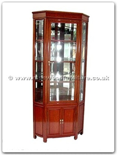 Rosewood Furniture Range  - ffrp28cor - Corner Cabinet Plain Design With Spot Light and Mirror Back