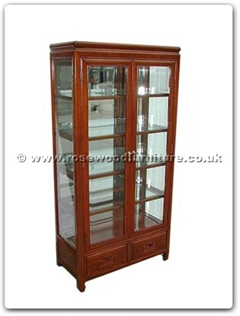 Rosewood Furniture Range  - ffrp30gla - Glass cabinet plain design with mirror back