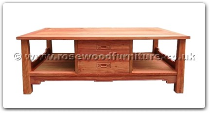 Rosewood Furniture Range  - ffshtea - Shinto style tea table w/2 deawers & 2 open sections
