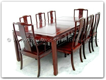 Rosewood Furniture Range  - ffsl78din - Sq dining table longlife design w2+6 chairs