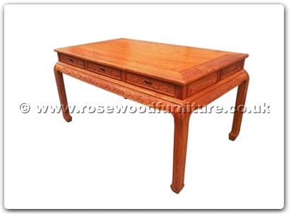 Rosewood Furniture Range  - ffteatf - Tea table flower carved with 3 drawers