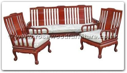 Rosewood Furniture Range  - ffthbsofa - High back sofa arm chair tiger legs (excluding cushion)