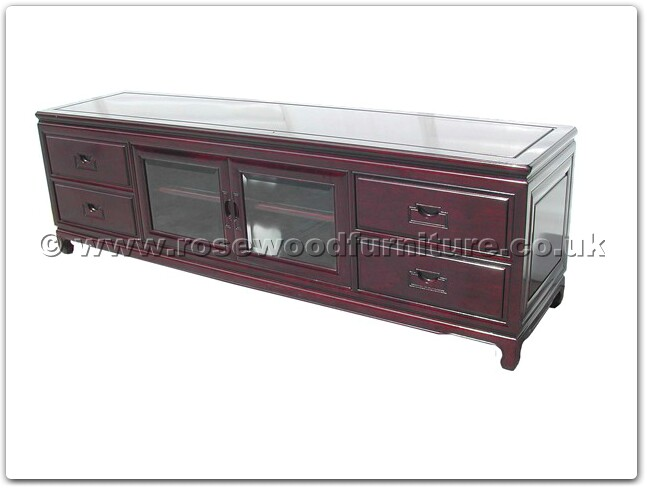 Rosewood Hi fi cabinet plain design with 4 wooden handle