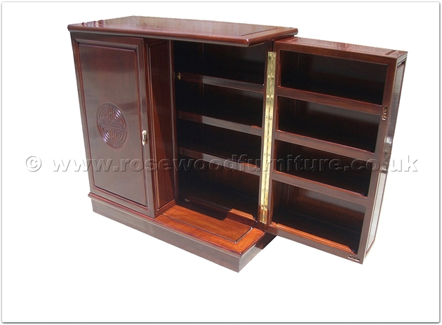rosewood cd dvd cabinet longlife design ff37e34cdl. Black Bedroom Furniture Sets. Home Design Ideas