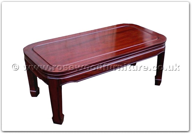 Rosewood Round Corner Coffee Table Plain Design Ff47e3cofp
