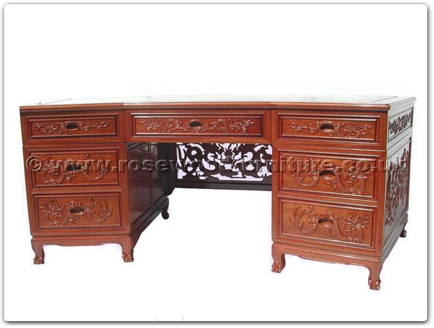 executive office desk dragon design and phoenix design tiger legs