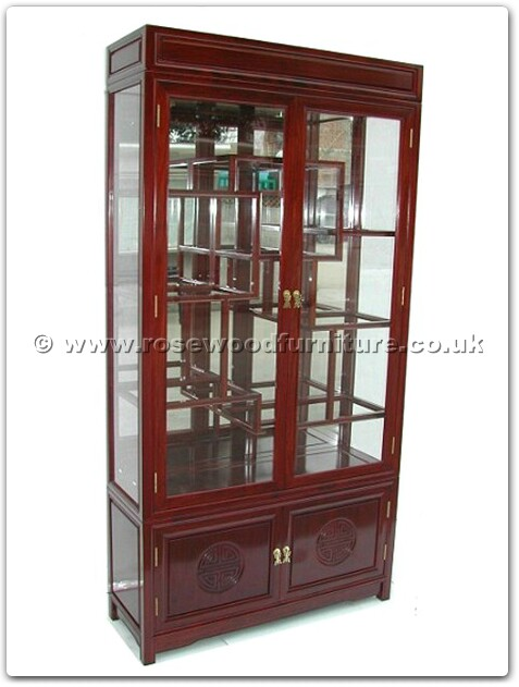 Rosewood display cabinet longlife design with spot light for Curio cabinet spot