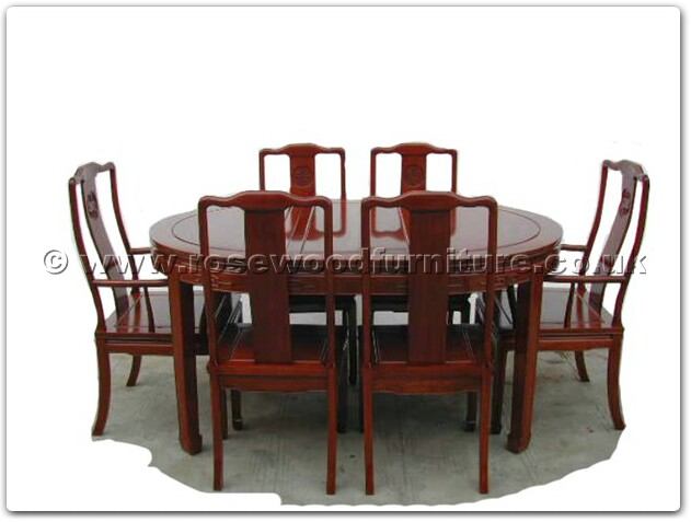Rosewood Oval dining table longlife design with 2 4 chairs