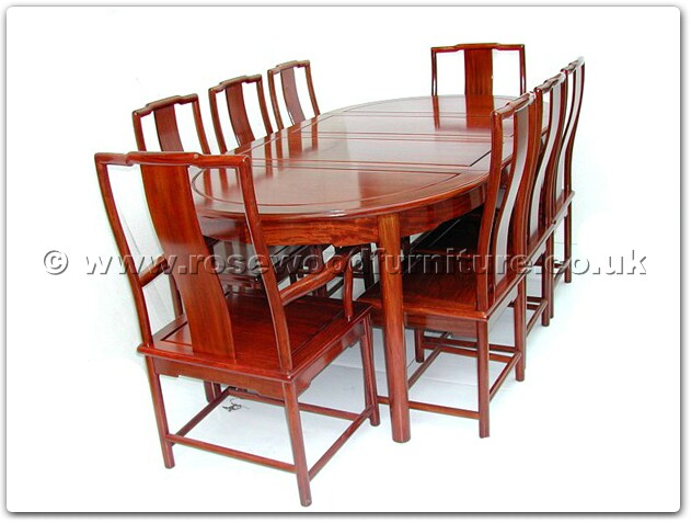 Range Ff7303o Ming Style Oval Dining Table With 2 6 Chairs