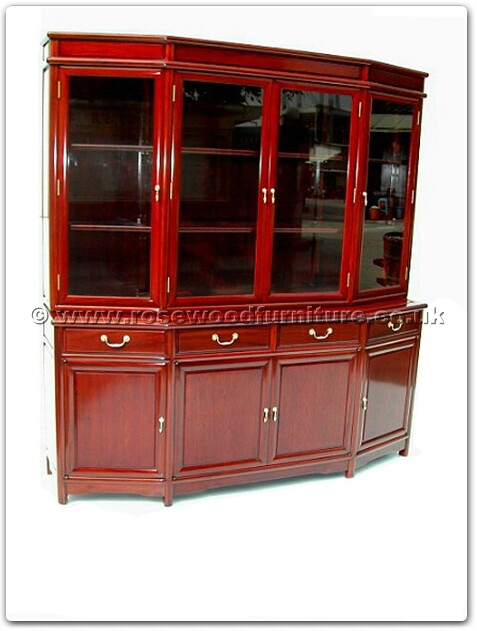 rosewood angle ming style buffet with top with spot light. Black Bedroom Furniture Sets. Home Design Ideas