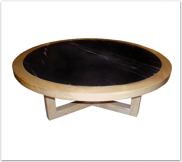 Marble Top Round Coffee Table Uk: Rosewood Ashwood Marble Top Round Coffee Table