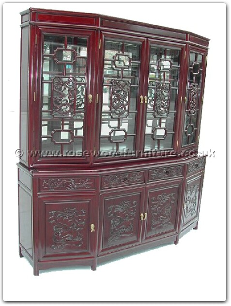 rosewood angle ming sytle buffet with top dragon design. Black Bedroom Furniture Sets. Home Design Ideas