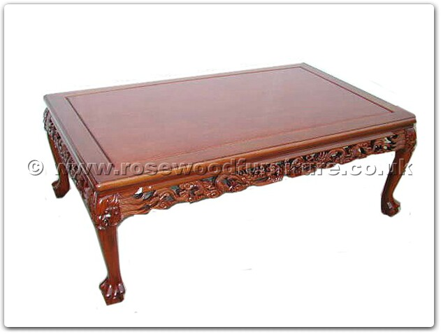 Rosewood Coffee Table Dragon Design Tiger Legs Ffrdtcof