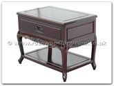 "Chinese Furniture - ff112r36sid -  Queen ann legs side table with 1 drawer and shelf with carved - 27.5"" x 18"" x 22"""