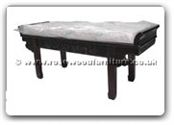"Chinese Furniture - ff113r18ads -  Altar shap3 dressing stool flower and bird design with cushion - 47"" x 16"" x 20"""