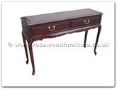 "Chinese Furniture - ff114r15qnser -  Queen ann legs serving table with 2 drawers - 48"" x 14"" x 31"""