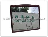 "Chinese Furniture - ff114r18qnm -  Queen ann style wood frame bevel mirror - 42"" x 36"" x 1"""