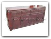 "Chinese Furniture - ff120r40rbuf -  Round corner buffet plain design - 72"" x 19"" x 34"""
