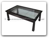 "Chinese Furniture - ff121r15stcof -  Shinto style bevel glass top coffee table - 50"" x 30"" x 18"""