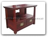 "Chinese Furniture - ff123r1stv -  Shinto style t.v. cabinet with 2 drawers - 36"" x 20"" x 26"""