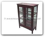 "Chinese Furniture - ff123r35mgc -  Ming style glass cabinet - 30"" x 14"" x 55"""