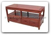 "Chinese Furniture - ff130r2tv -  T.v. cabinet with 2 drawers plain design - 48"" x 16"" x 24"""