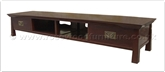 "Rosewood Furniture - ff144r13stv -  Shinto style CD - DVD cabinet - 2 drawers - 2 open sections - 80"" x 20"" x 16"""