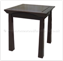 "Rosewood Furniture - ff145r4send -  Shinto style end table - 20"" x 20"" x 22"""