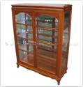 "Chinese Furniture - ff147r10qgcab -  Queen ann legs display cabinet - 40"" x 16"" x 53"""