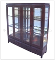 "Chinese Furniture - ff156r24cab -  Glass cabinet plain design - 4 drawers and 4 doors - 60"" x 14"" x 60"""