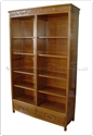"Chinese Furniture - ff160r28cas -  Bookcase flower and bird design - 2 bottom drawers and full flower and bird pattern top - 48"" x 16"" x 78"""