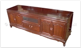 "Rosewood Furniture - ff162r7tv -  Queen ann legs t.v. cabinet - 72"" x 20"" x 26"""