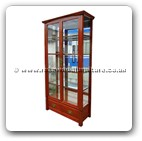 "Chinese Furniture - ff204r6sdc -  Shinto style desplay cabinet w/2 glass doors & 2 drawers - 40"" x 16"" x 78"""